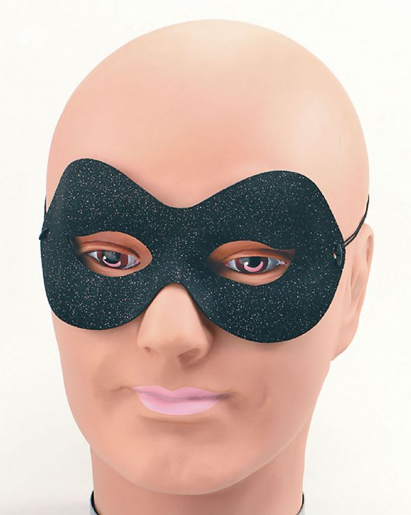 Black & Silver Sparkle Domino Eyemask Masquerade Ball Eye-Mask Eye Mask